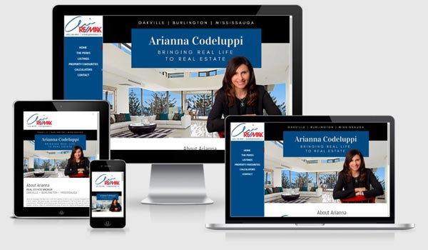 real estate web designer canada